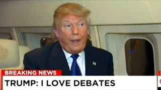 Donald Trump Gives CNN Interview On Trump-Force-One Before Veterans Rally