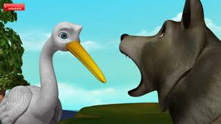 The Wolf and the Crane | Telugu Stories for Kids | Infobells