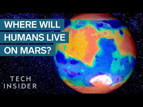 This Map Shows Where We'll Live On Mars
