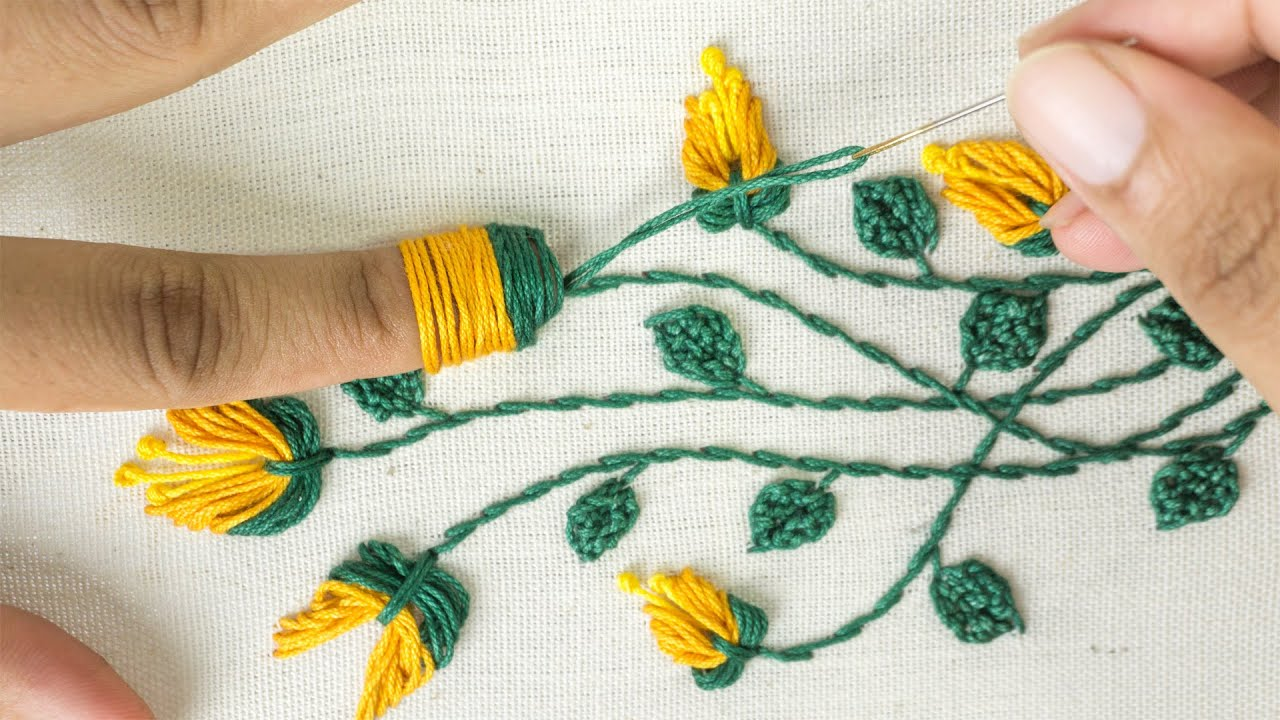 Amazing Hand Embroidery Learn Flower Ideas With Tricks Youtube