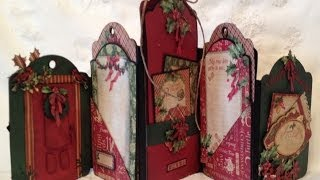 G45 The Twelve Days Of Christmas Tag Mini Album / Photo Display -  Blog Base Tutorial Tag Series 3