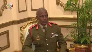 بالفيديو.. وزير الدفاع يلتقي قائد «حفظ السلام» بجمهورية الكونغو