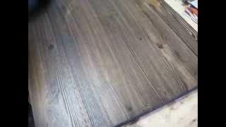Покриття меблевого щита маслом