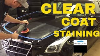 Clear Coat Staining and Etching...How to Remove!!! Today, on Black Paint and Soft Clear Coat!!