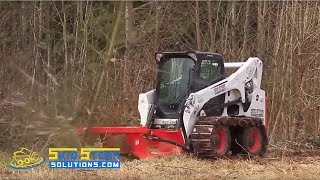 Tree Clearing Brush Cutter for Bobcat Style Loaders - Removing Trees with the Eterra Typhoon