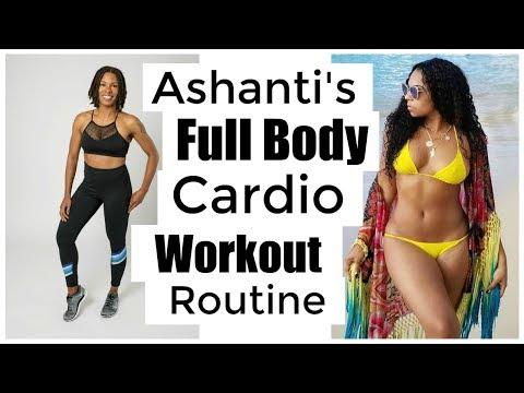 I Tried Ashantis Full Body Cardio Workout Routine 10 Minutes Tone Abs, Glutes,  & Arms