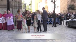 130331•Spanish Royals at Mallorca going to the Ester Mass Service