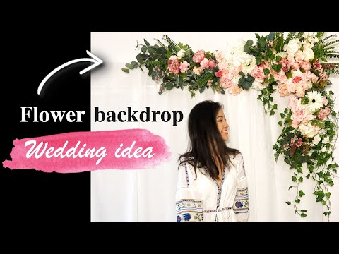 How To Make a FLOWER WALL for Wedding   Flower Backdrop   Flower Frame