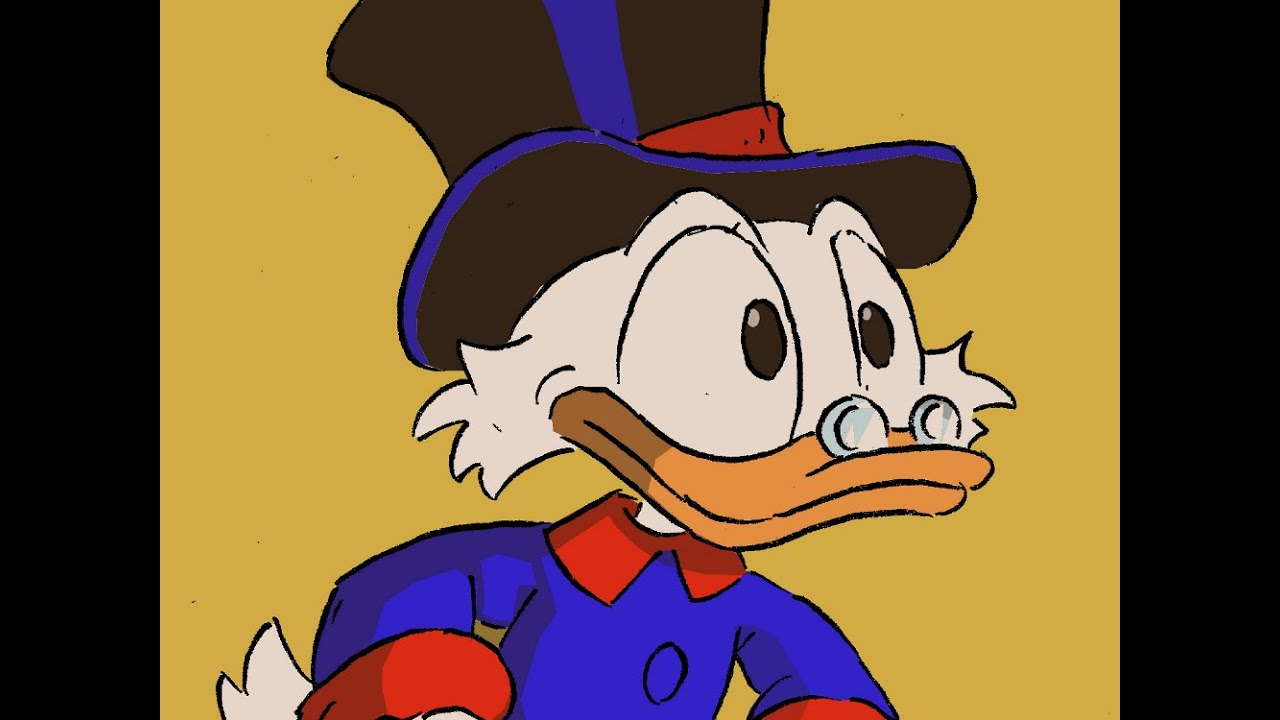 How to draw Scrooge McDuck from Ducktales  Cmo dibujar a To