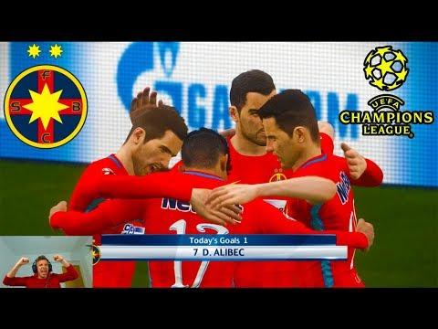 Super Goluri Marcate De Alibec In Uefa Champions League - PES 2018 Romania Cariera Cu Steaua