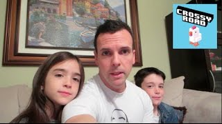 eh bee family plays crossy road