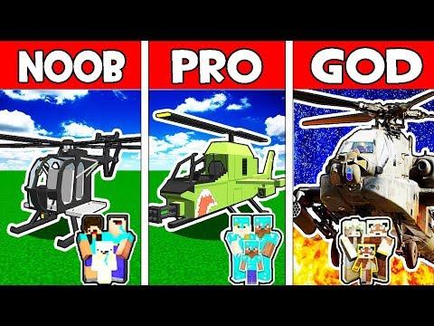 Minecraft - NOOB vs PRO vs GOD : FAMILY SECRET HELICOPTER in Minecraft Animation