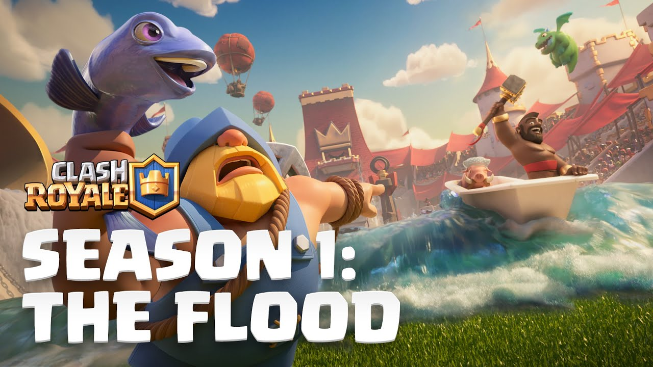 Clash Royale Season 1: The Flood!  New Update Reveal