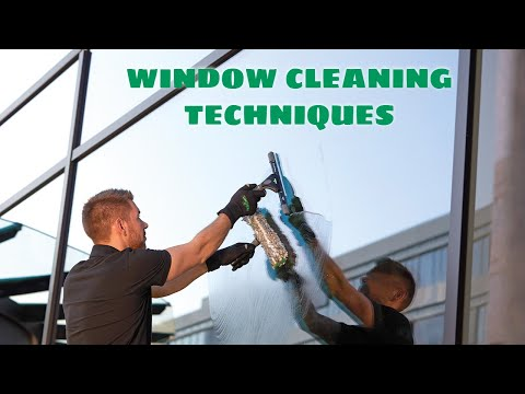 Traditional Window Cleaning Techniques – Tutorial  Video 2 - UNGER