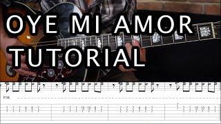 como tocar oye mi amor de man tutorial guitarra acordes tab hd