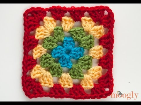 Crocheting Granny Squares On Youtube : How to Crochet: Multicolor Granny Squares - YouTube