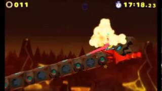 Sonic Lost World (3DS) - Lava Mountain Zone 3 (S-Rank)
