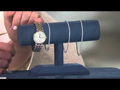 Diamonique Everyday Tennis Bracelet Sterling with Lisa Mason