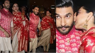 Download Video Deepika Padukone kisses hubby Ranveer Singh and so happy as they come hand in hand to Mumbai MP3 3GP MP4