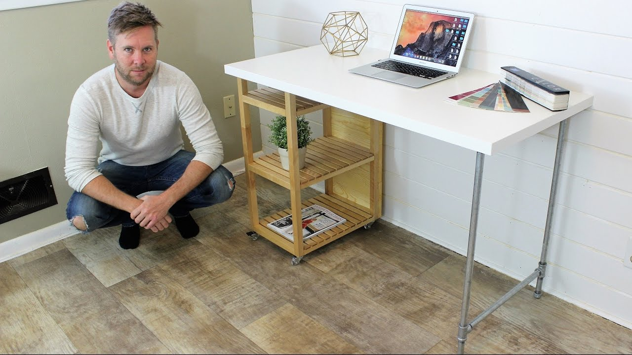 Ikea Hack Computer Desk Diy Project Youtube