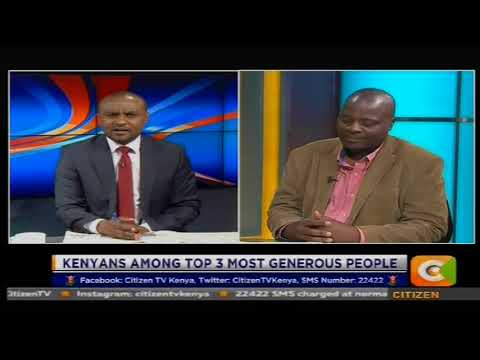 Power Breakfast News Review : Kenyans among top 2 most generous people in the World