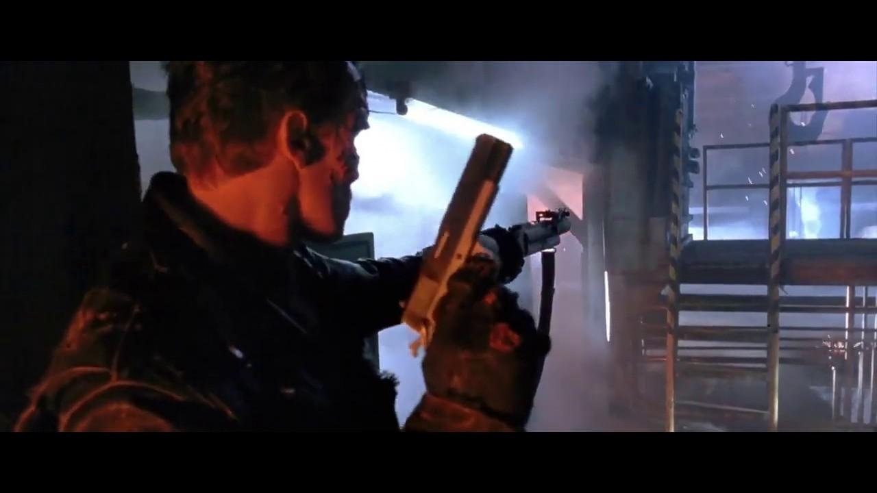 Download Terminator 2 judgment day... Terminator vs T-1000 fight scene