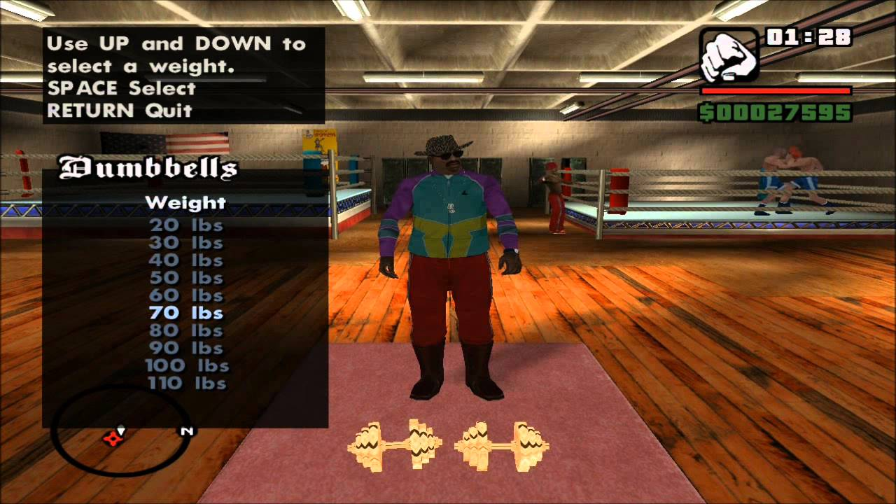 gta san andreas how to lose muscle