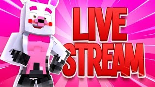 The Secret Life Of Mangle + Face Cam (Minecraft Horror Daycare Live Stream)