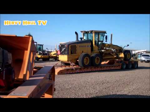 HEAVY HAUL TV: Delivery Of The Motor Grader In Grande Prairie, Alberta
