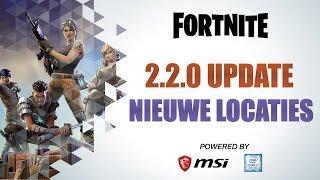 Fortnite Battle Royale update 5 new locations DUTCH (Fortnite new patch update)