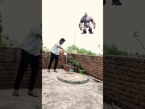 Monster attacking man funny vfx video | Viral magic video | By Ayan mechanic