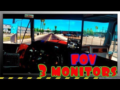 Como configurar 3 monitores FOV American Truck Simulator ATS Español