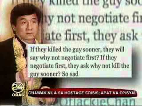 gmanews 24oras Jackie Chan tweets about Manila hostage crisis   Video   GMANews TV   Official Website of GMA News and Public Affairs   Latest Philippine News