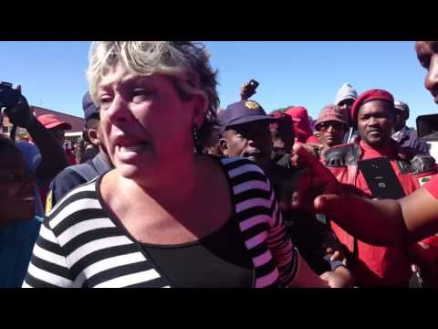 'Where is Malema?' – Woman confronts EFF supporters in Coligny
