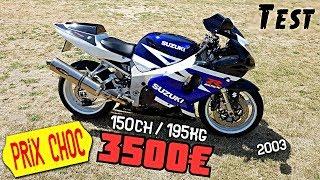 """""""Test"""" 3500€ pour une moto de course de 150 chevaux """"Suzuki GSXR 750 K3"""""""