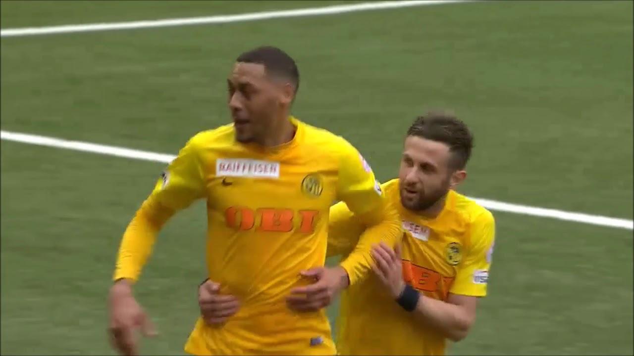 Das Tor Von Yb Stürmer Guillaume Hoarau Gegen Basel Vom 2 April 2018