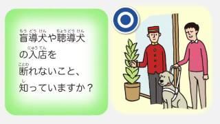 障害者差別解消法PR動画5「具体例(盲導犬の入店拒否)編