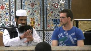 Shahada by New Muslim witnessed by  Sheikh Sulaiman Moola.