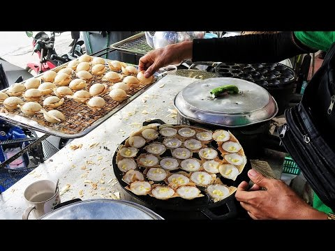 Thai Coconut Pudding Pancakes - Khanom Krok ● Thailand Travel Vlog ● Bangkok Street Food