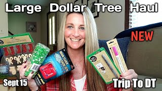 Large Dollar Tree Haul +❤ Trip To DT❤ All NEW!