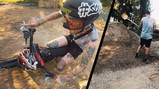 Pitbike Spaß und die neue Jumpline nimmt Gestalt an - Gartenprojekt Teil 2   Fabio Schäfer Vlog #174