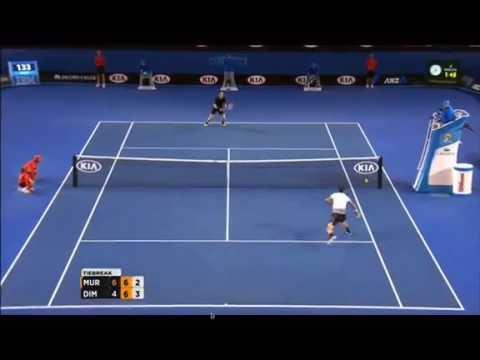 Grigor Dimitrov-Andy Murray Australian Open Amazing Point.