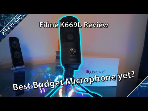Fifine K669b - An amazing mic for $30? Review and microphone testing!