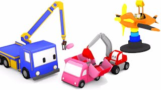 The Amusement Park - Learn with Tiny Trucks : bulldozer , crane , excavator | Educational cartoon