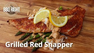 Grilled Red Snapper with Cajun Cream Sauce