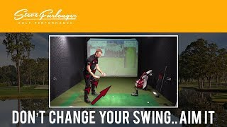 Don't Change Your Swing.. Aim It - EASY ALIGNMENT LESSON TO HIT IT STRAIGHTER