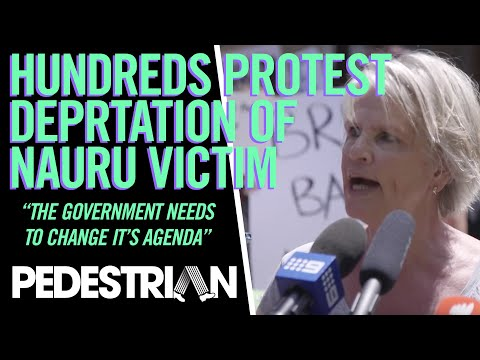 Hundreds Gather To Protest Deportation Of Nauru Rape Victim