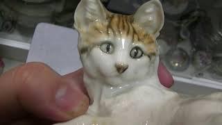 hutschenreuther фарфоровая кошка 1950х годов на продажу