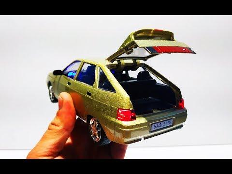 Большая моделька машинка золотая ВАЗ LADA 2112 свет и звук! Распаковка и обзор. Про машинки.