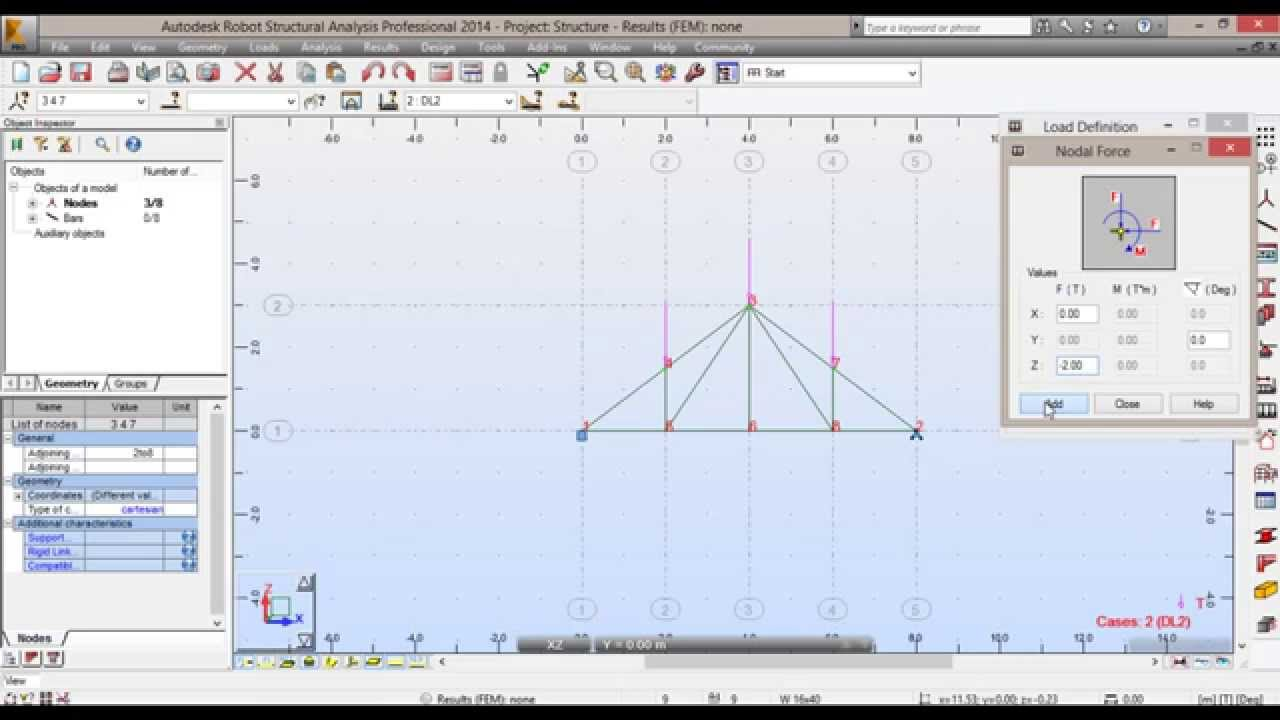13 Trusses analysis using Robot Structural analysis